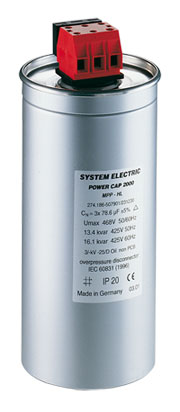 SYSTEM ELECTRIC: Power capacitors